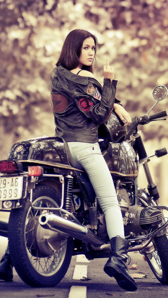 woman with heavy bikes wallpapers - photo #22
