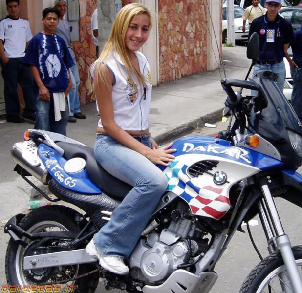 Sexy girl motorcycle and only panties - 1 part 7