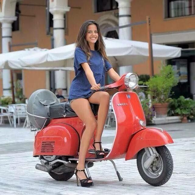 scooter girls - Google Search | Scooter girl, Vespa girl